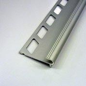Nez de marche décoratif en aluminium anodisé, chromé, 2.5 m x 12.5 mm