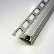 Nez de marche décoratif en aluminium brut, chromé, 2.5 m x 12.5 mm
