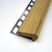 Nez de marche décoratif en bois, décor chêne, 1 m x 12.5 mm
