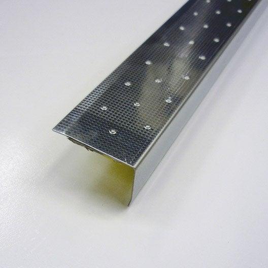 Nez de marche d coratif en inox m x 1 5 mm leroy for Profile carrelage inox
