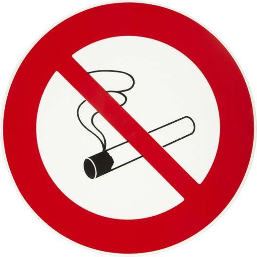 disque interdiction de fumer en plastique leroy merlin. Black Bedroom Furniture Sets. Home Design Ideas