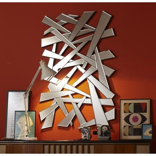 miroir eclair 120x80 cm leroy merlin. Black Bedroom Furniture Sets. Home Design Ideas