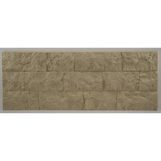 lot de 3 panneaux beige polyur thane thermart rugosa mm leroy merlin. Black Bedroom Furniture Sets. Home Design Ideas