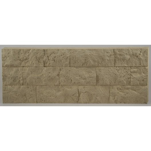 3 panneaux isolants d coratifs thermart rugosa beige - Panneaux decoratif leroy merlin ...