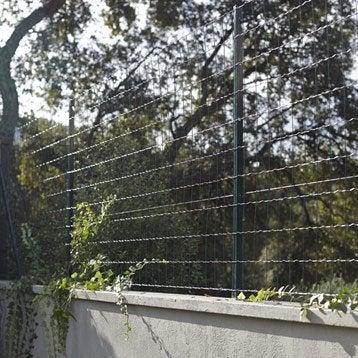 Grillage soudé Astroplax vert H.1 x L.20 m, maille de H.100 x l.75 mm