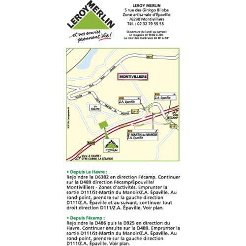 Plan d'accès au magasin Leroy Merlin de Mantes  (buchelay)