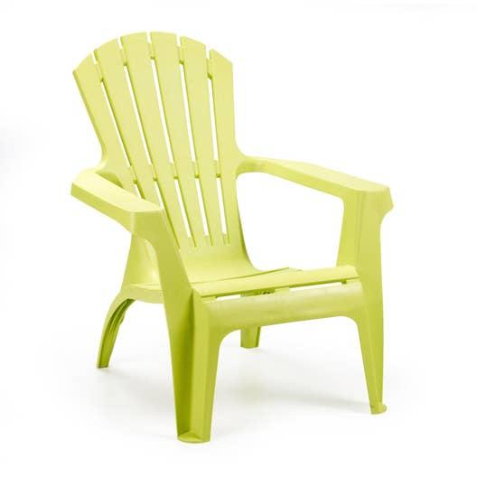fauteuil bas de jardin en r sine dolomiti anis leroy merlin. Black Bedroom Furniture Sets. Home Design Ideas