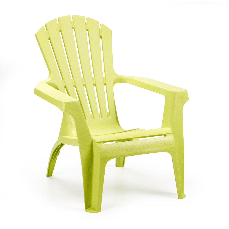 fauteuil bas de jardin en rsine dolomiti anis - Fauteuil De Terrasse