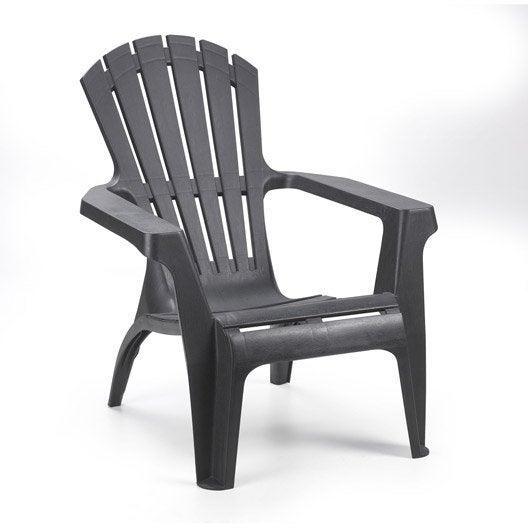 fauteuil bas de jardin en r sine dolomiti anthracite leroy merlin. Black Bedroom Furniture Sets. Home Design Ideas