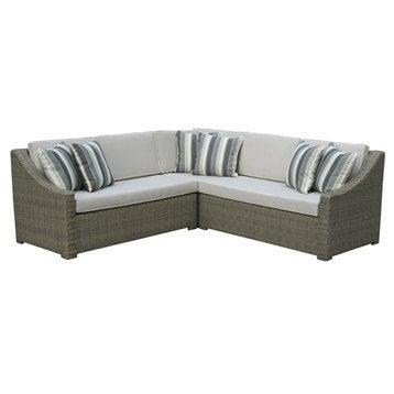 Salon bas de jardin canap fauteuil bas salon de - Canape d angle exterieur resine ...
