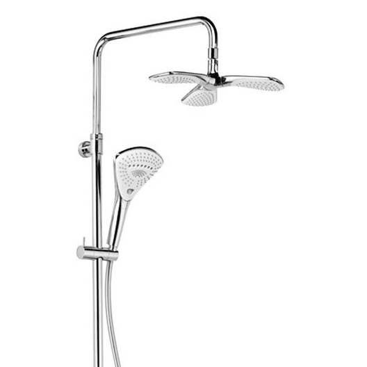 colonne de douche et bain sans robinetterie kludi d zire fleur leroy merlin. Black Bedroom Furniture Sets. Home Design Ideas