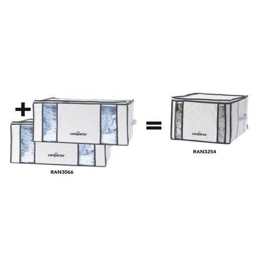 lot de 3 housses de rangement sous vide compactor blanc h. Black Bedroom Furniture Sets. Home Design Ideas