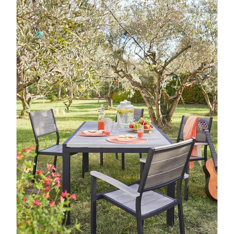 Table de jardin Polywood rectangulaire gris 10 personnes | Leroy Merlin
