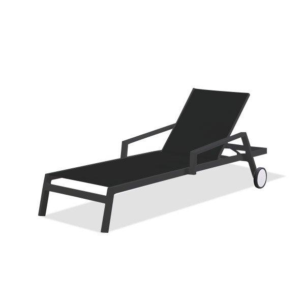 Étonnant Bain de soleil en aluminium Ibiza gris anthracite | Leroy Merlin UN-64