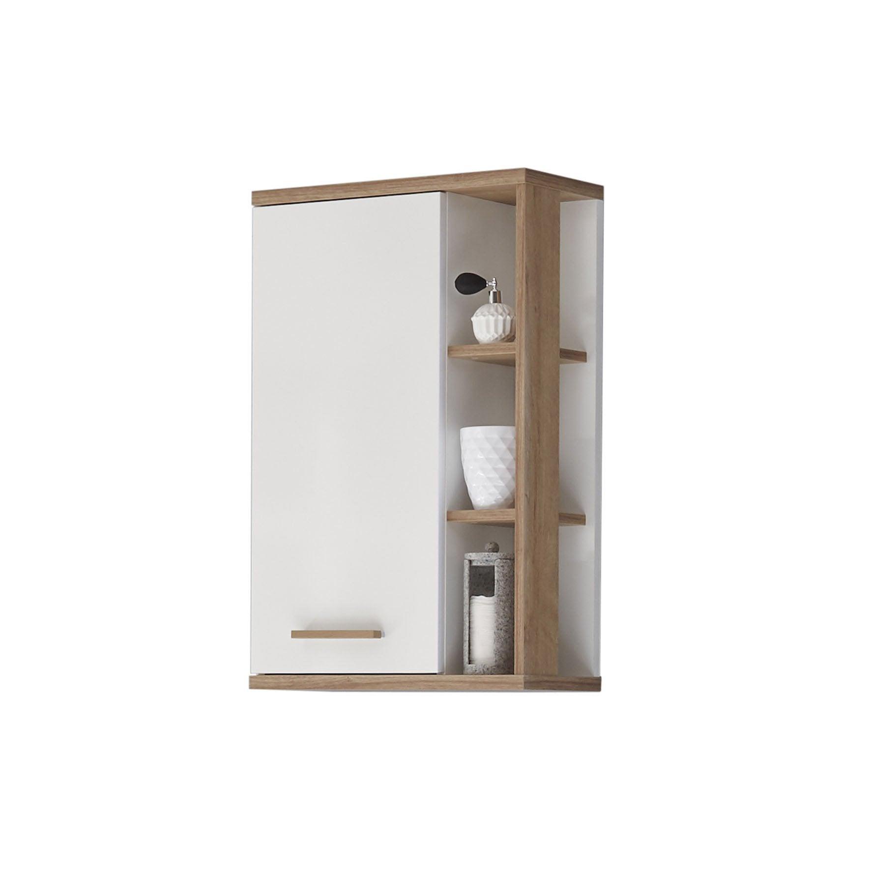 Meuble Haut Salle De Bain Avec Miroir meuble haut salle de bain l.50 x h.74 x p.20.5 cm