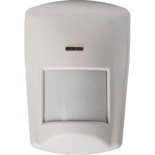 D tecteur de mouvement infrarouge blanc pour alarme maison for Alarme pour maison individuelle leroy merlin