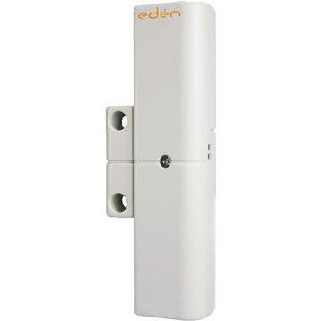 Détecteur magnétique d'ouverture blanc pour alarme maison EDEN