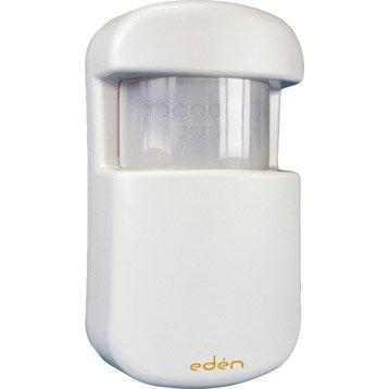 Détecteur de mouvement infrarouge blanc pour alarme maison EDEN