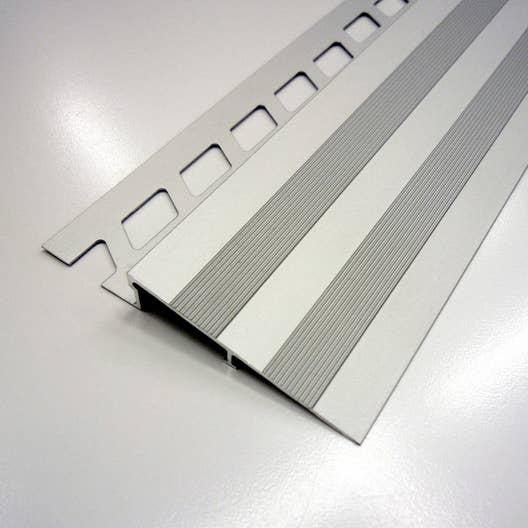 rampe d 39 acc s sol aluminium anodis l 2 5 m x mm leroy merlin. Black Bedroom Furniture Sets. Home Design Ideas