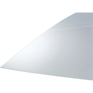 Plaque polystyrène transparent lisse, L.50 x l.50 cm x Ep.2.5 mm