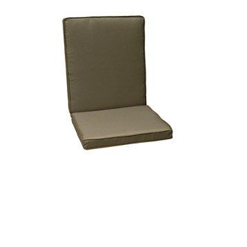 Coussin d'assise et dossier de chaise ou fauteuil NATERIAL Laura, uni gris doré