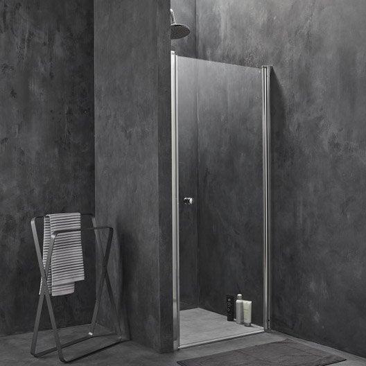 Porte de douche pivotante flexa leroy merlin - Porte en verre leroy merlin ...