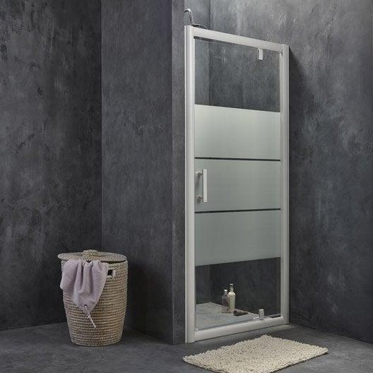 porte de douche pivotante optima2 leroy merlin. Black Bedroom Furniture Sets. Home Design Ideas