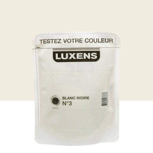 Testeur peinture blanc ivoire 3 luxens couleurs int rieures satin l leroy merlin - Blanc comme l ivoire ...