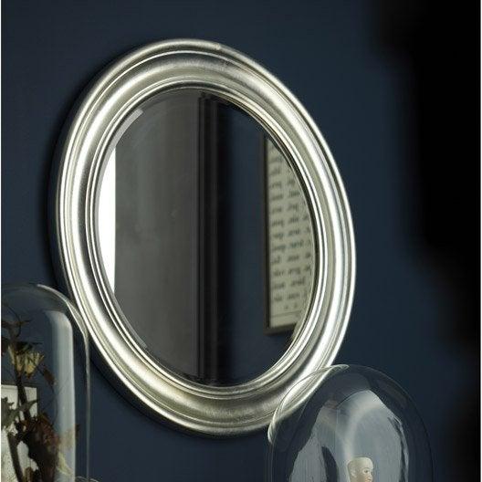 miroir daventry rond argent diam tre 72 cm leroy merlin. Black Bedroom Furniture Sets. Home Design Ideas