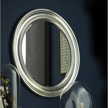 Miroir stickers cadre miroir et affiche leroy merlin for Miroir rond 120 cm