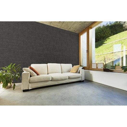 lot de 6 panneaux gris polyur thane thermart star mm leroy merlin. Black Bedroom Furniture Sets. Home Design Ideas