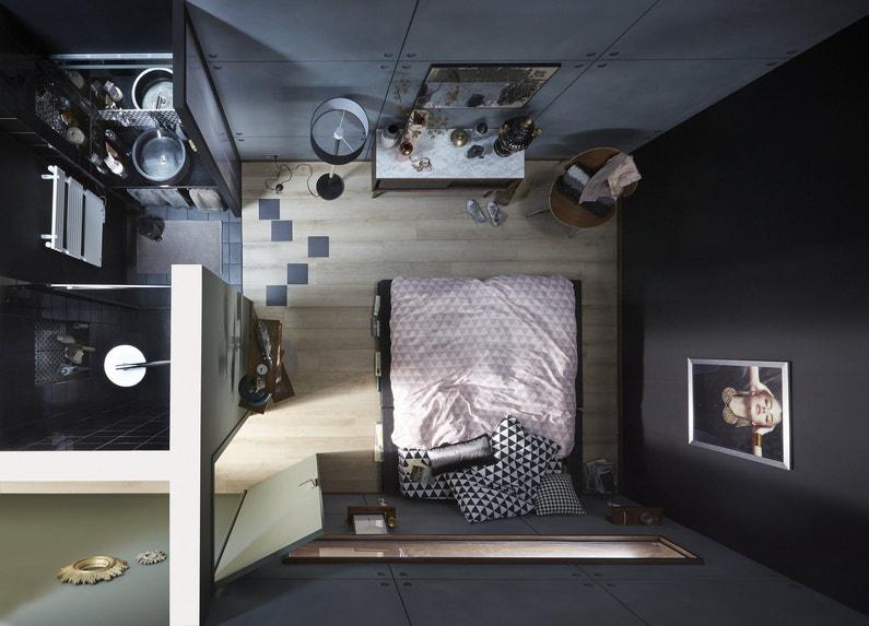 Une petite salle de bains dans la chambre for Mini salle d eau dans une chambre