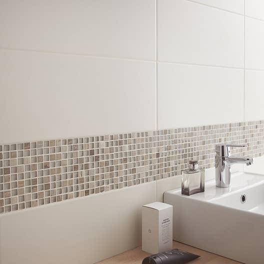 Fa ence mur blanc ivoire n 5 loft mat x cm leroy merlin - Blanc comme l ivoire ...