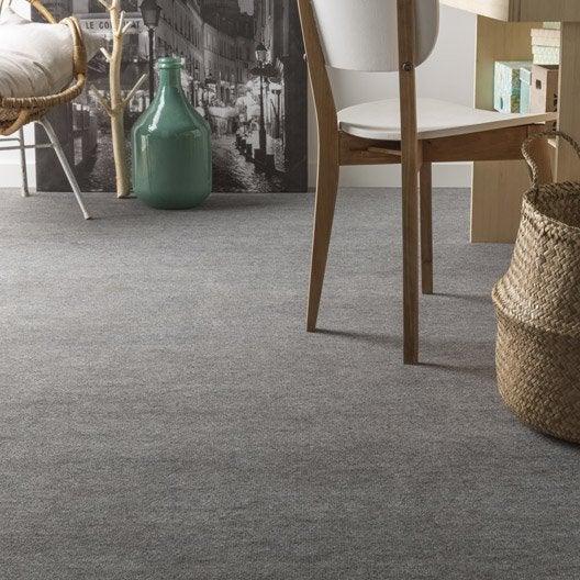 moquette boucl e spot grise 4 m leroy merlin. Black Bedroom Furniture Sets. Home Design Ideas