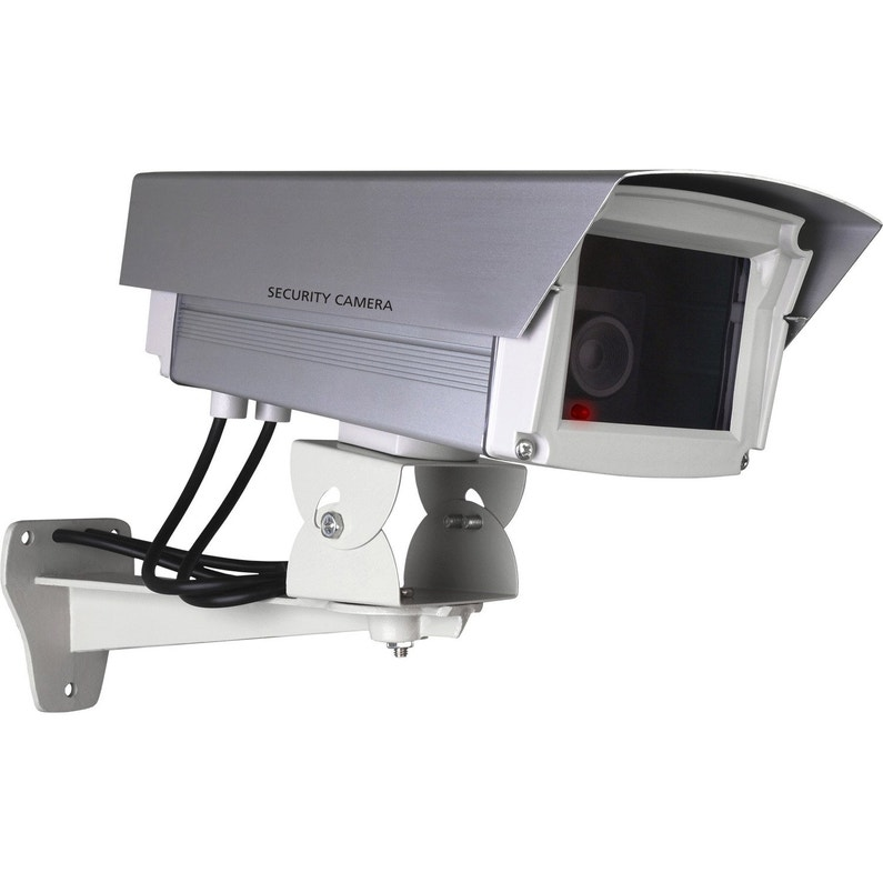 Camera Factice Metal Avec Led Cligotante Smartwares Cs66dfr Leroy Merlin