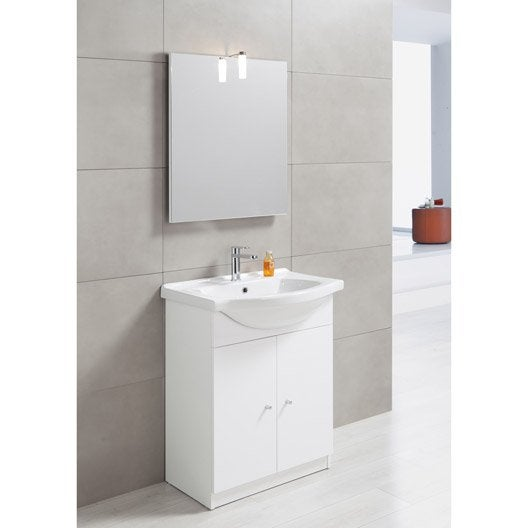 meuble salle de bain miroir leroy merlin