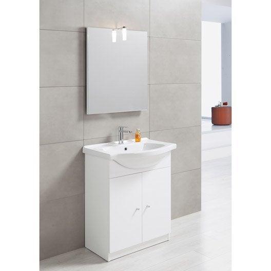 Meuble sous vasque x x cm blanc bianca for Meuble sous vasque bois 60 cm
