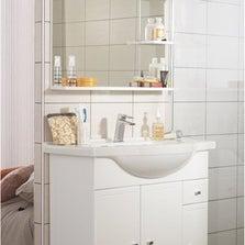 Meuble sous-vasque l.80 x H.80 x P.35 cm, blanc Galice