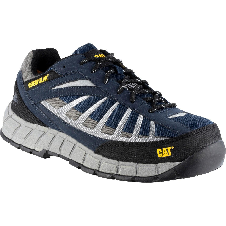 Chaussures de sécurité basses CATERPILLAR, coloris bleugris T45