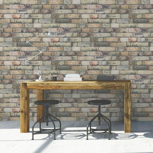 papier peint intiss brique anglaise jaune leroy merlin. Black Bedroom Furniture Sets. Home Design Ideas