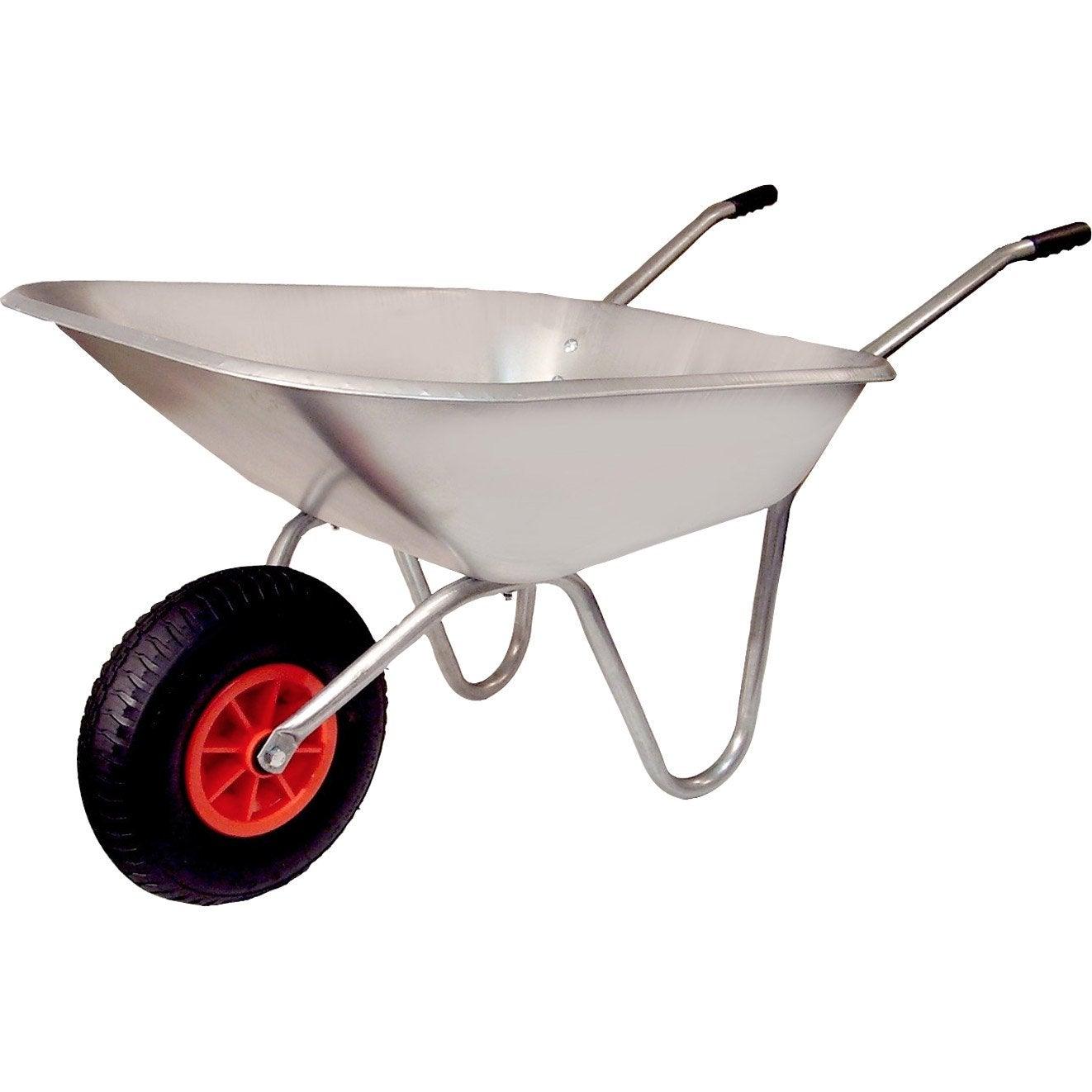 brouette 1 roue en acier galvanis altrad 90 l 120 kg leroy merlin. Black Bedroom Furniture Sets. Home Design Ideas