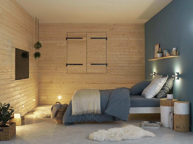 Une ambiance chalet en bois dans la chambre adulte | Leroy Merlin