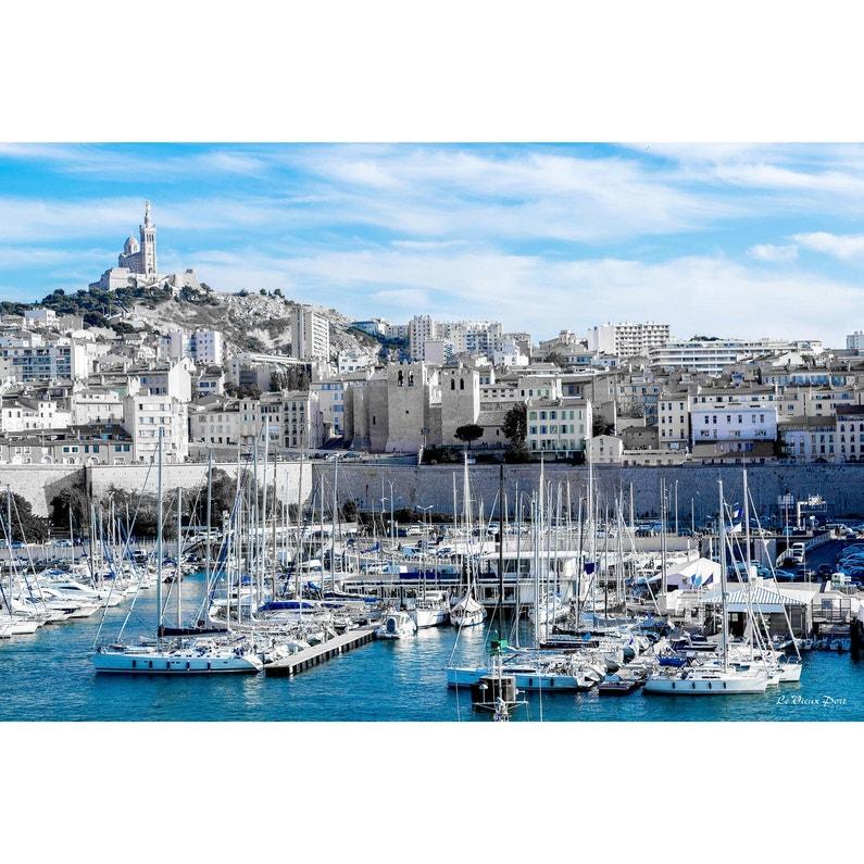Toile Imprimée Vieux Port De Marseille Multicolore Artis L97 X H65 Cm