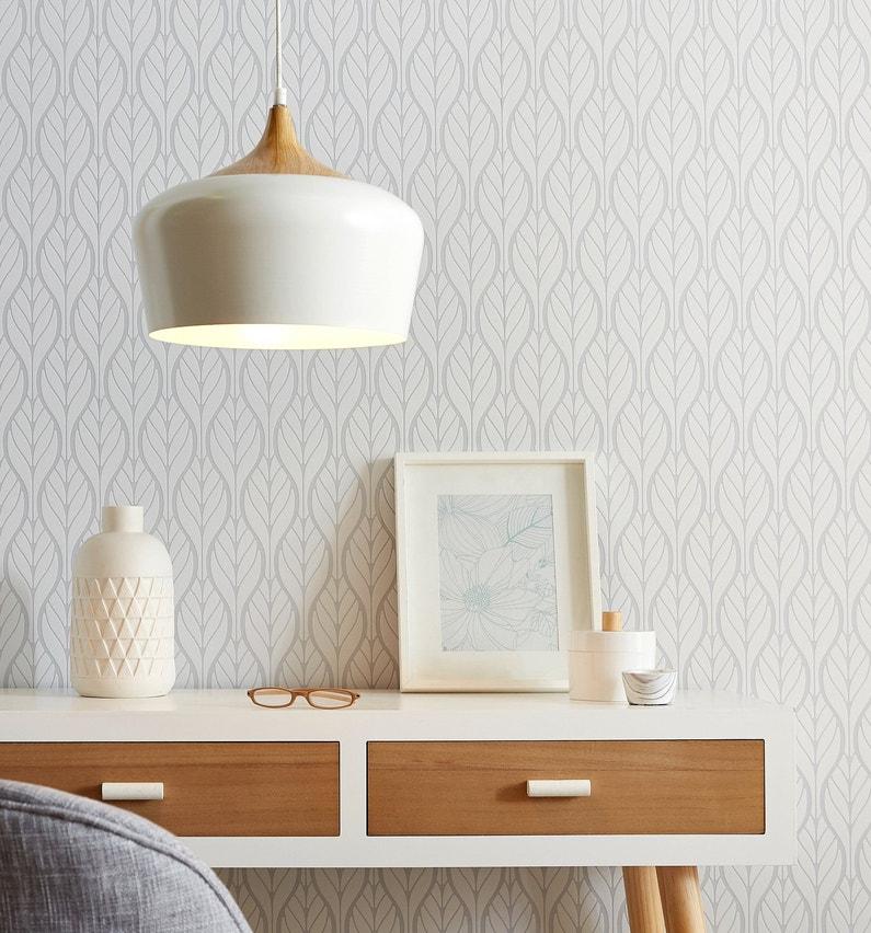 Le bois et la couleur blanche offre une ambiance reposante