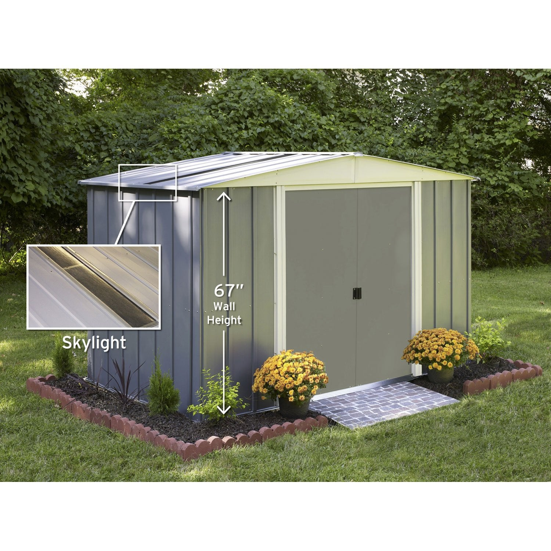 abri de jardin acier lm10667s ep.0.22 mm, 5.04 m² | leroy merlin