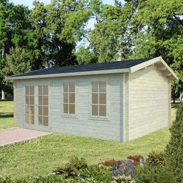 Abri de jardin bois m tal r sine chalet de jardin cabane de jardin au meilleur prix leroy - Chalet 20m2 avec mezzanine leroy merlin ...
