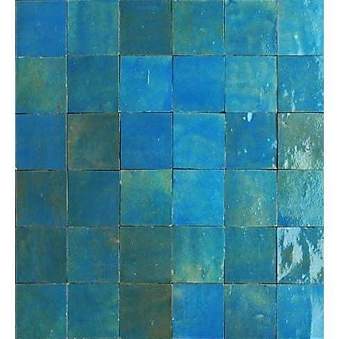 Mosaïque mur Zellige lazuli 5 x 5 cm   Leroy Merlin