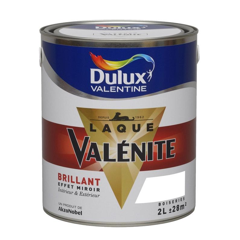 Peinture Boiserie Valénite Dulux Valentine Blanc Brillant 2 L