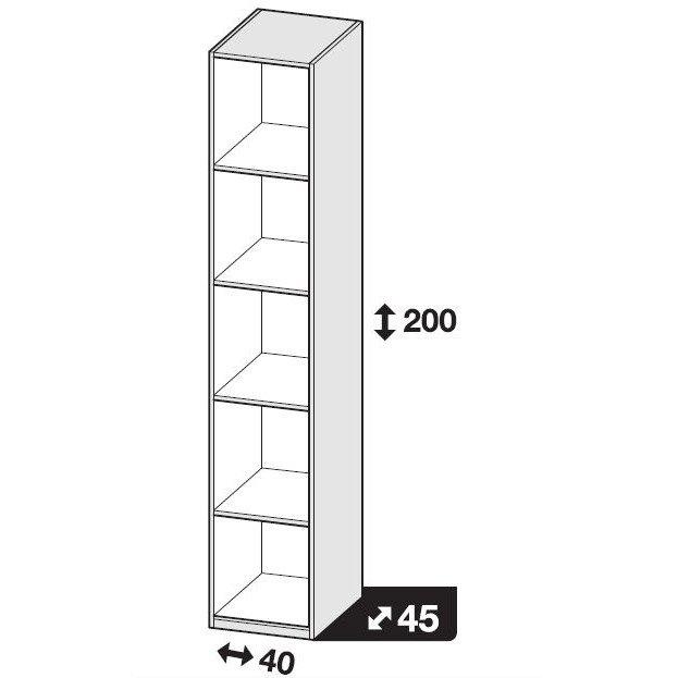 Caisson Spaceo Home Blanc H 200 X L 40 X P 45 Cm