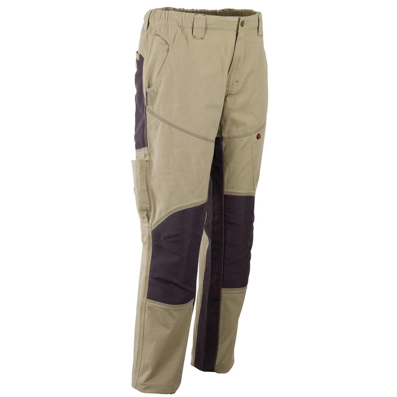 pantalon de travail redstone beige gris taille m. Black Bedroom Furniture Sets. Home Design Ideas